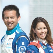 Husband and wife team of professional motorsport drivers, Yuey Tan and Claire Jedrek