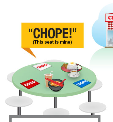 'Singaporean Culture: How to 'Chope' seats in busy hawker centres