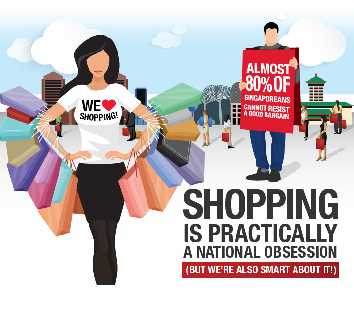Shopping is Singapore's national past-time: Shopping in Singapore is an experience in itself
