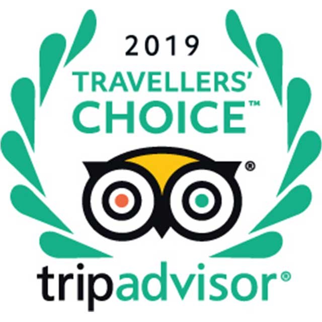 Travelers' Choice TripAdvisor 2019.