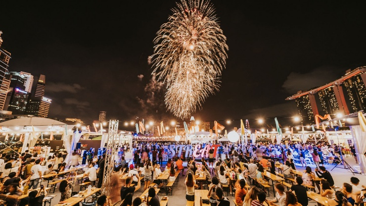 Atmosphäre bei STREAT beim Singapore Food Festival 2019