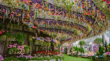 Innenansicht der Floral Fantasy in Gardens by the Bay