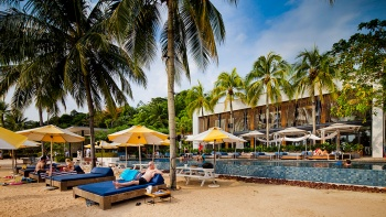 Pool-Pavillons im Tanjong Beach Club