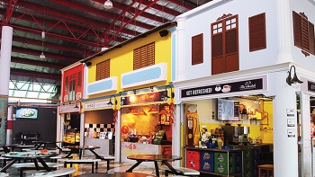 A scene of the stalls at Bedok Marketplace, a food centre with a range of 'hawkerpreneur' grub on offer