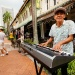 Busker playing the keyboard at Kampong Glam