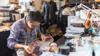 Wide shot of Kevin Seah who founded KEVIN SEAH BESPOKE