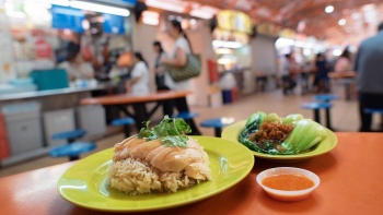 Chicken Rice Set from Tian Tian Hainanese Chicken Rice at Maxwell Food Centre