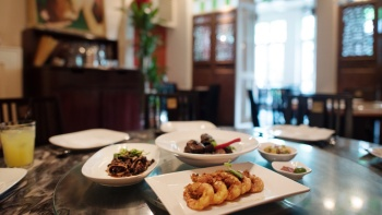 A set of Peranakan dishes from The Blue Ginger
