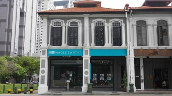 Street view of Whole Earth shop front at Peck Seah Street