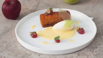 Porrusalda, a dish made from leek and its broth, white onions and carrots by Basque Kitchen