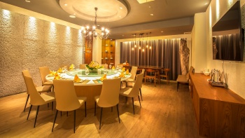 A sea bream dish served at Rhubarb Le Restaurant