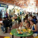 People dining at Singapore's hawker centre