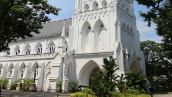 Image of Saint Andrew's Cathedral, Singapore's oldest cathedral.