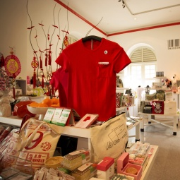 Merchandise sold at the Museum Label shop at Asian Civilisation