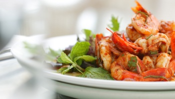 Assam udang, a Peranakan dish made of assam and prawns