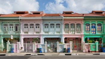 Row of Peranakan shophouses at Joo Chiat.