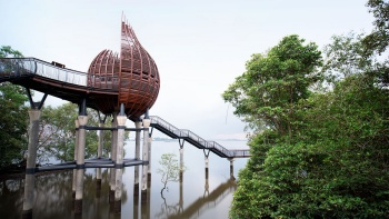 The Observation Pod at Sungei Buloh Wetland Reserve.