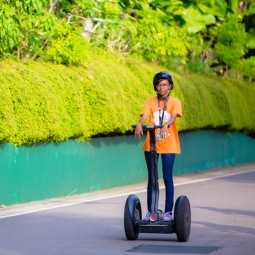 A participant riding a Segway® at Sentosa