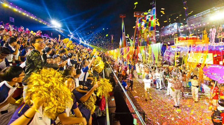 Finale celebration of the Chingay Parade