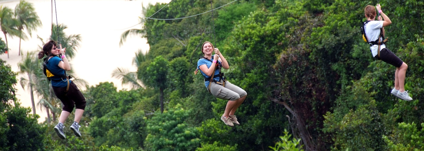 Mega Adventure Park – Singapore, Sentosa flying fox