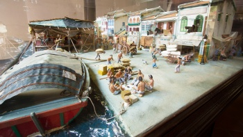 Miniature model exhibit at the Fuk Tak Chi Museum in Singapore