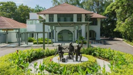 Reflections at Bukit Chandu is housed in a lovingly restored colonial bungalow.