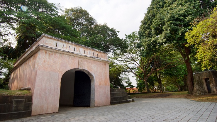 Take a stroll back in time at Fort Canning Park, Singapore - a landmark full of history.