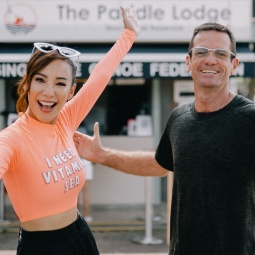 Fiona Xie and Shaun Mcewan at The Paddle Lodge