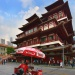 Wide shot of Buddha Tooth Relic Temple exterior
