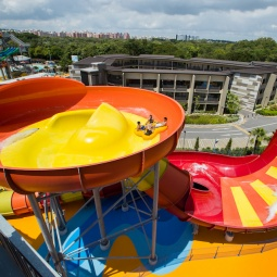 View from the top of The Royal Flush, Southeast Asia's first hybrid water ride