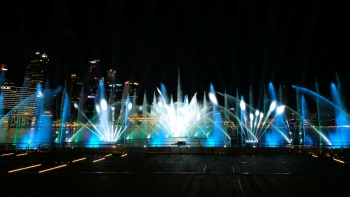 Beautiful Spectra light and water show by Marina Bay Sands®