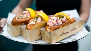 Signature Lobster roll at Burger & Lobster, an American comfort food at Jewel Changi, Singapore