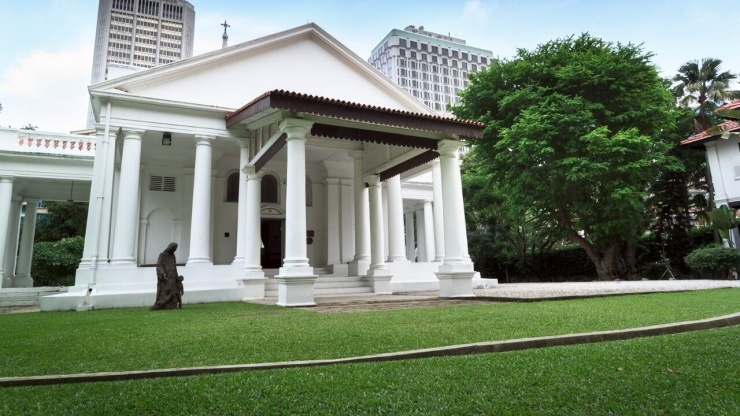 Façade of the Armenian Church in Singapore