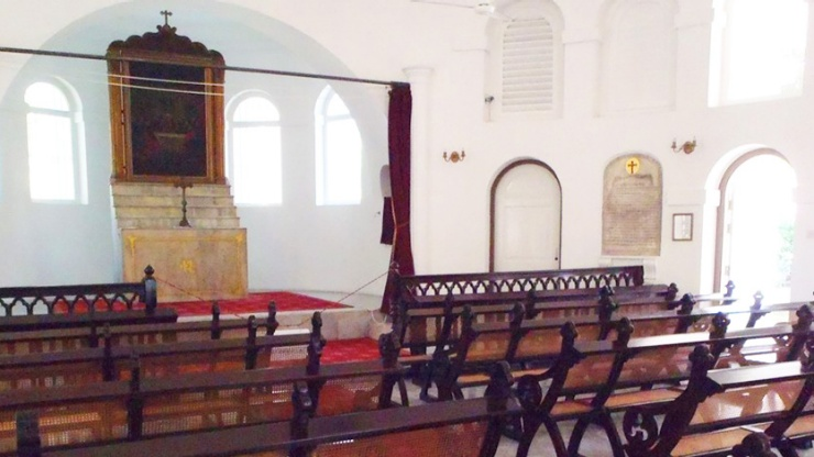The interior of the Armenian Church