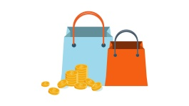 Illustration of shopping bags