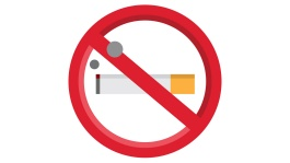 Illustration of a red sign prohibiting smoking
