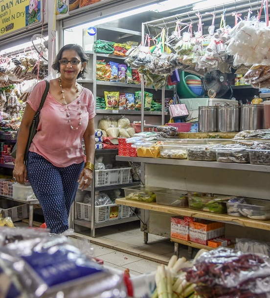 Ruqxana hunts for spices and ingredients in Geylang Serai Market.