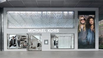 Wide shot of Michael Kors boutique store