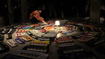 An exhibition featuring 100 keyboards at Singapore International Festival of Arts