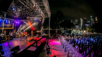 Baybeats local music performance and crowd at Esplanade – Theatres on the Bay