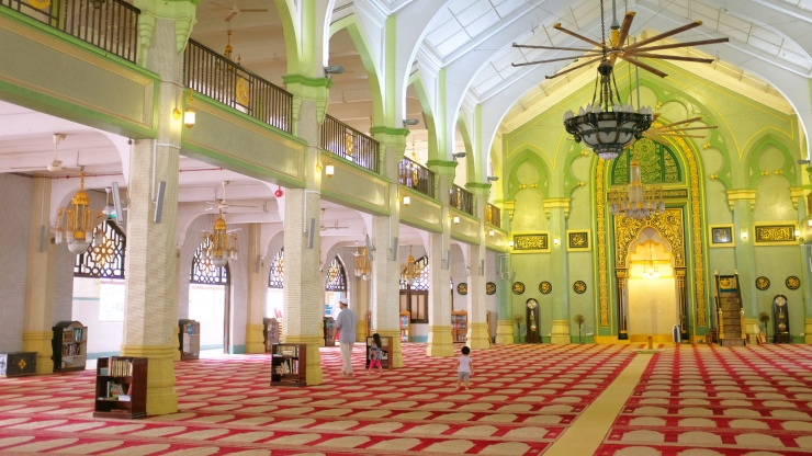 During the Hari Raya Haji period, the faithful congregate at the mosque dressed in their finest.