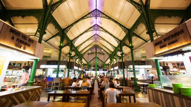Lau Pa Sat blends graceful colonial architecture, heritage and delicious food.