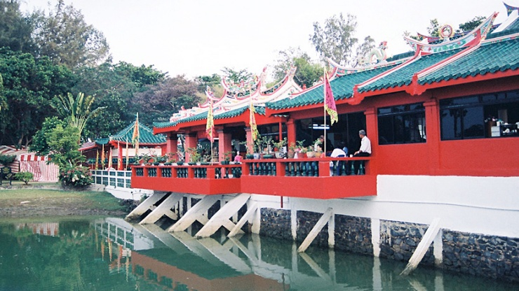 Exterior shot of the Da Bo Gong Temple on Kusu Island