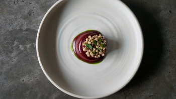 A beetroot dish by Meta Singapore