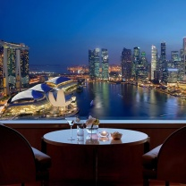 View from Ritz Carlton, Millenia overlooking the Marina Bay area