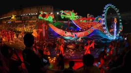 The vibrant Chingay Parade is a celebration of Singapore's multicultural heritage.