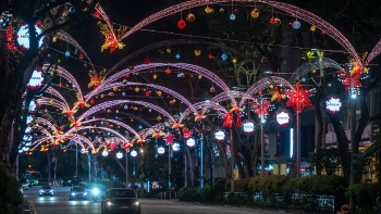 Christmas lights along Orchard Road