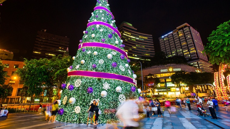 Christmas in Singapore is every bit the celebration that it is elsewhere.