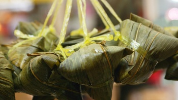Dragonboat races and dumplings are the two main features of the dragon boat festival.