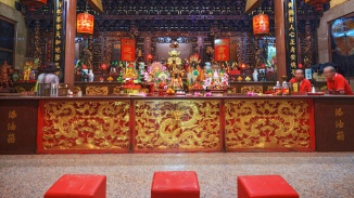 Interior of Lorong Koo Chye Sheng Hong Temple